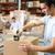 werknemers · goederen · gordel · distributie · magazijn · man - stockfoto © monkey_business