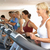 senior woman on running machine in gym stock photo © monkey_business