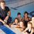 children having swimming lesson stock photo © monkey_business
