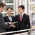 quatre · affaires · collègues · discussion · à · l'extérieur · bureau - photo stock © monkey_business