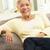 szczęśliwy · 60s · starszy · asian · kobieta · jadalnia - zdjęcia stock © monkey_business