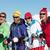quatre · amis · ski · ensemble · vacances · femme - photo stock © monkey_business