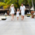 family walking on wooden jetty stock photo © monkey_business
