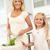 mère · fille · salade · ensemble · fille - photo stock © monkey_business