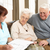 senior · man · discussie · gezondheid · bezoeker · home - stockfoto © monkey_business