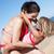 madre · hija · natación · mar · familia · ninos - foto stock © monkey_business