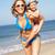 母親 · を実行して · ビーチ · 笑みを浮かべて · 子 - ストックフォト © monkey_business