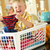 ragazzo · seduta · basket · lavanderia · contatore · di · cucina · bambini - foto d'archivio © monkey_business