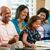 multi generation family celebrating daughters birthday stock photo © monkey_business