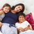 mother and children relaxing in bed wearing pajamas stock photo © monkey_business