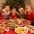 three generation family enjoying christmas meal at home stock photo © monkey_business