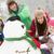 グループ · 子供 · 建物 · 雪だるま · スキー · 休日 - ストックフォト © monkey_business
