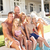 extended family outside relaxing by swimming pool stock photo © monkey_business