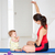 moeder · baby · yoga · vrouw · familie · home - stockfoto © monkey_business