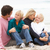 young family sitting on winter beach stock photo © monkey_business