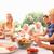 família · grande · refeição · jardim · família · crianças - foto stock © monkey_business