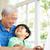 abuelo · nieto · junto · sesión · sillón - foto stock © monkey_business