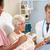 médico · digital · comprimido · falante · senior · paciente - foto stock © monkey_business
