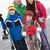 grupo · crianças · esquiar · férias · montanhas - foto stock © monkey_business