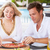 Couple Enjoying Meal In Outdoor Restaurant stock photo © monkey_business