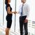 empresarias · apretón · de · manos · oficina · gente · de · negocios · equipo · femenino - foto stock © monkey_business