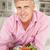 成人 · 男 · 健康的な食事 · サラダ · 食品 · 肖像 - ストックフォト © monkey_business