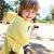heureux · peu · garçon · vélo · isolé · blanche - photo stock © monkey_business