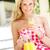 adulto · mulher · olhando · vidro · fresco · suco · de · laranja - foto stock © monkey_business