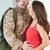 kobiet · żołnierz · worek · domu - zdjęcia stock © monkey_business