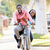 couple cycling along suburban street together stock photo © monkey_business