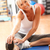 senior woman doing stretching exercises in gym stock photo © monkey_business