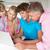 anya · tini · lánygyermek · otthon · számítógéphasználat · lány - stock fotó © monkey_business