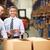 gestionnaire · entrepôt · cases · numérique · comprimé · homme - photo stock © monkey_business