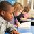 estudante · leitura · livro · sala · de · aula · feliz · criança - foto stock © monkey_business