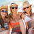 group of teenage girls enjoying beach holiday together stock photo © monkey_business