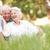 couple · de · personnes · âgées · séance · parc · femme · herbe · couple - photo stock © monkey_business