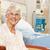 retrato · sorridente · senior · paciente · cama · hospital - foto stock © monkey_business
