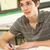 boldog · diák · osztályterem · fotó · jóképű · fiatal - stock fotó © monkey_business