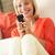 nő · megnyugtató · kanapé · küldés · szöveges · üzenet · nők - stock fotó © monkey_business