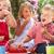 csoport · gyerekek · eszik · zselé · szabadtér · tea - stock fotó © monkey_business
