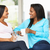 woman visiting pregnant friend at home stock photo © monkey_business