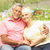senior couple relaxing in garden stock photo © monkey_business