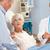 idős · pár · beszél · aggódó · orvosi · pár · kórház - stock fotó © monkey_business