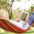 Senior Man Relaxing In Hammock With  E-Book stock photo © monkey_business
