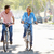 couple cycling on suburban street stock photo © monkey_business
