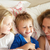 mother and children relaxing together in bed stock photo © monkey_business