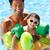 criança · pai · piscina · família · feliz · jogar · azul - foto stock © monkey_business