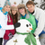 teenage family building snowman on ski holiday in mountains stock photo © monkey_business