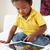 sofa · spelen · digitale · tablet · kinderen - stockfoto © monkey_business