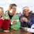 group of friends enjoying hot drink in caf stock photo © monkey_business